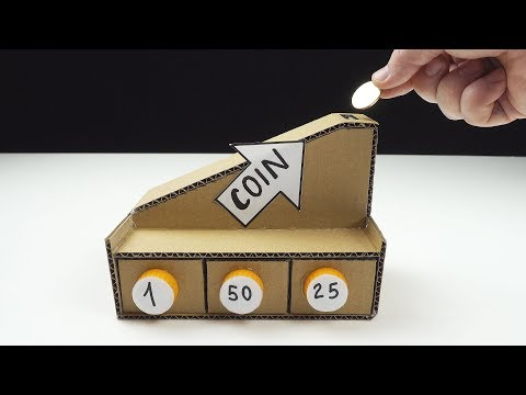 DIY Automatic Coin Sorting Machine from Cardboard v2 0