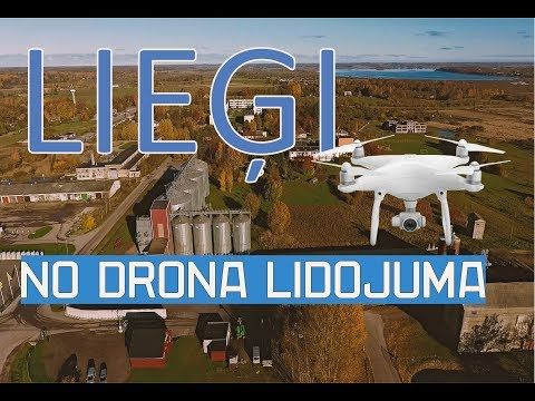 Lieģi , Durbes novads / no drona lidojuma /Latvia / phantom 4