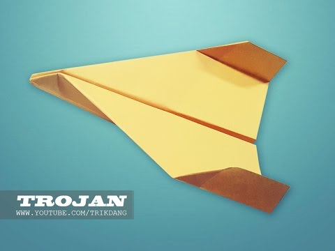 How to make a Paper Airplane - EASY PAPER PLANE for Kids | Trojan +