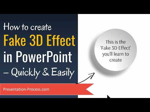 How to create Fake 3D Effect in PowerPoint