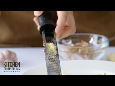 How to Quickly Mince Garlic and Ginger - Kitchen Conundrums with Thomas Joseph