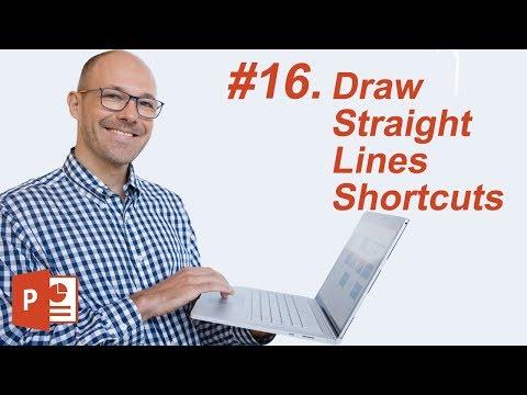 #16: Draw straight line Shortcut (Microsoft PowerPoint Shortcuts)
