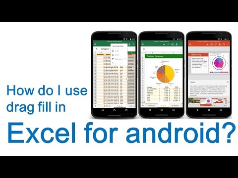How do I use drag fill in Excel for android?