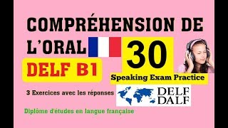 DELF A2 B1 Listening Comprehension exercises practice online - How