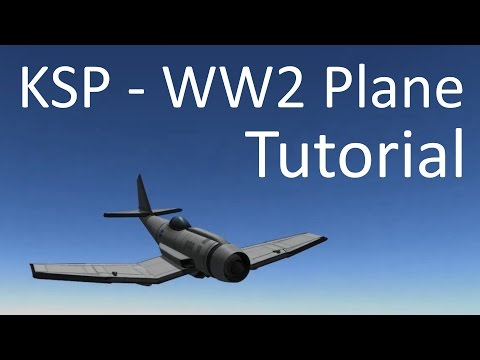 KSP - Frontal Jet Engine WW2 Fighter Style Tutorial (Stock)