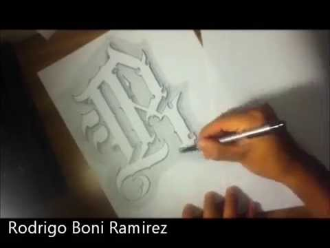 The Letter R Custom Chicano Style Tattoo Letters