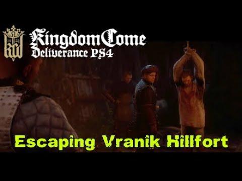 Kingdom Come Deliverance PS4 Escaping Vranik Hillfort