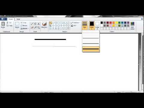 how to draw various lines in Ms Paint