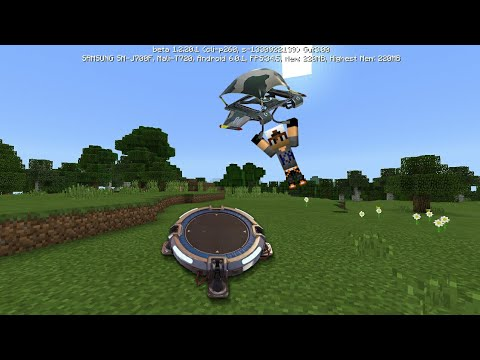 MCPE 1.2 How To Make *FORTNITE* Launch pad in Mcpe| Command Block Creation