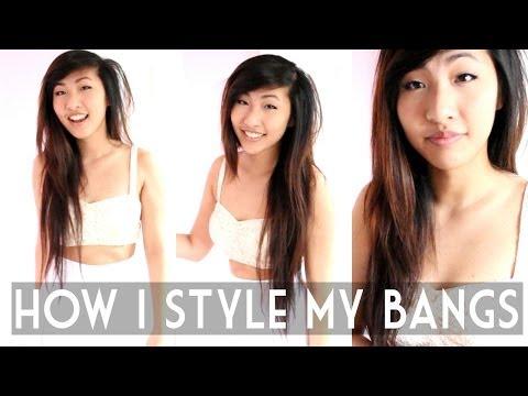 How I Style My Side Swept Bangs/Fringe | Emily Liu