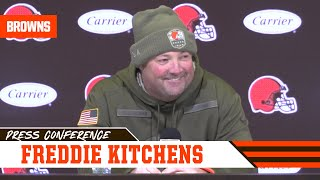 Freddie Kitchens Prepping for Bengals' Confidence After 1st Win | Cleveland Browns