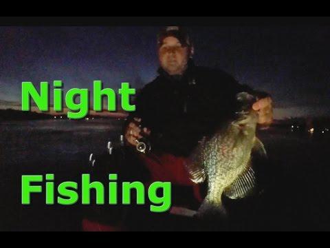 Night Ice Fishing GIANT Crappie!