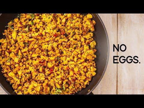 Eggless Bhurji Recipe - Tasty Veg Scrambled Anda Burji with No Eggs - CookingShooking