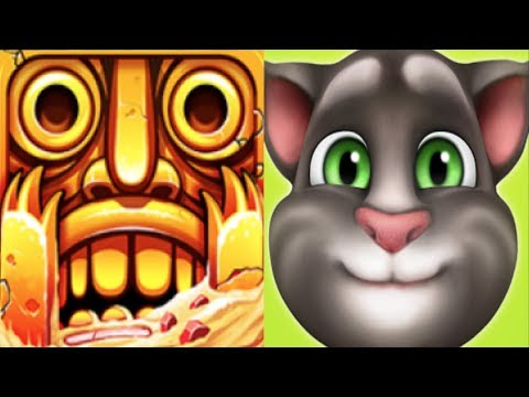 Temple Run 2*Imhotep,Jade demon mask*Vs.My Talking Tom*iOSGameplay make for children #121