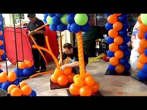 How to Make a Spiral Column- Balloon Artist San Diego Series