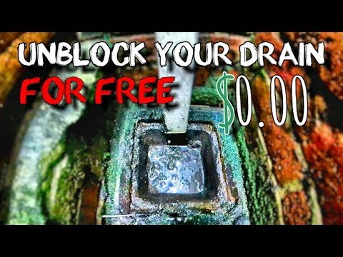 How To Unblock A Drain For FREE