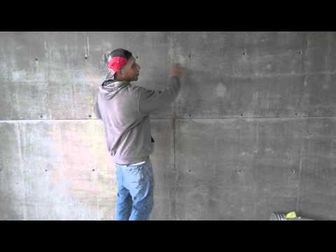 Satin Finish Concrete Grinding Of Walls!