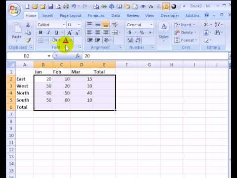 Excel Grand Totals With One Click