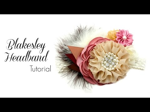 Blakesley Baby Headband Tutorial - Hairbow Supplies, Etc.