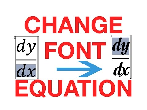 How to change the default font in Equation Editor - Cách đổi font mặc định trong Equation