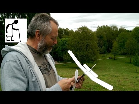 Rubber Band Plane Prop Assembly Demo Part #5 More Flights