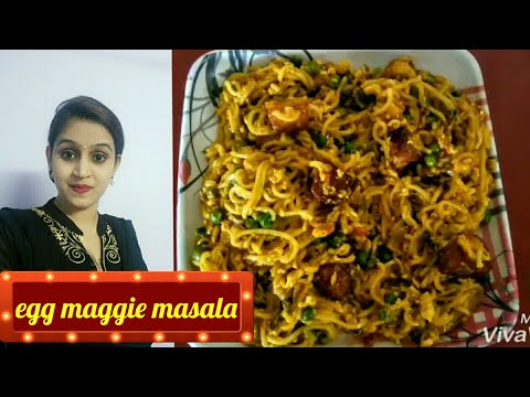 Egg Maggi masala   Street food style   different and easy breakfast recipe