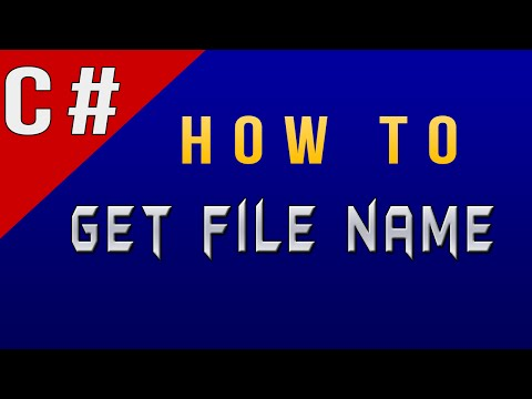 How to Get File Name in C#/CSharp