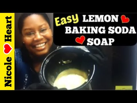 Lemon Baking Soda Soap | Body Oder Remover