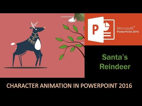 Santa's Reindeer | Character Rigging and Motion Graphics in PowerPoint 2016 Tutorial