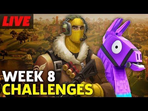Fortnite Week 8 Challenges In Battle Royale