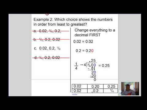 Mrs Kingsberry- Compare and Order Fractions and Decimals