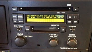 Remove / Replace Volvo V70 S60 S80 Heater A/C Control