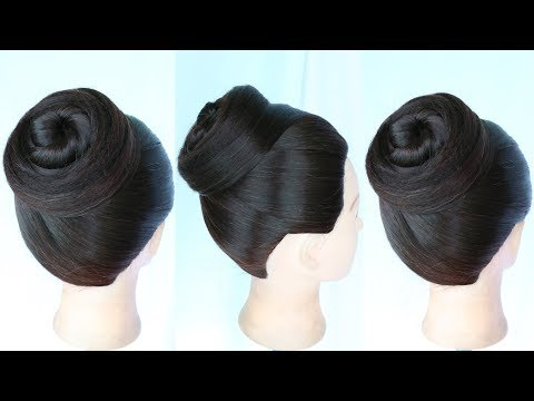 new easy juda hairstyle || elegant updo || chignon bun || hair bun || cute hairstyles || hair ideas