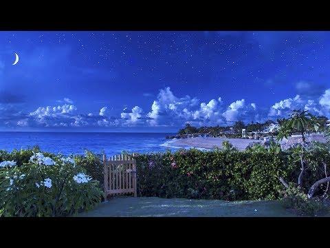 Ocean Waves Lullaby for Sleeping with Blue Nightlight - Ocean Sounds, 8 Hours