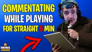 NINJA COMMENTATING HIS GAMEPLAY WHILE PLAYING FOR STRAIGHT 5 MIN UNTIL WIN! - Fortnite Moments #117