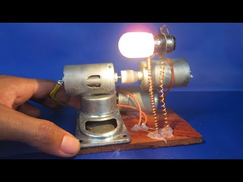 Free energy generator electric Using DC motor - Simple free energy light bulbs at home 2018