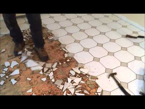 DIY How To Remove Ceramic Tiles On Plywood Floors