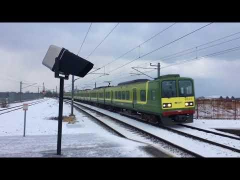 Trains In The Snow North Dublin