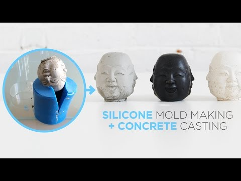How to make silicone molds for casting concrete