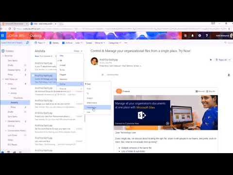 How you can organize your emails in Outlook Web Access (OWA)?