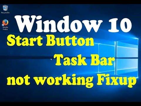 Windows 10 Start Button, Task Bar, Edge and Cortana Not Working - 100% Working Fixup