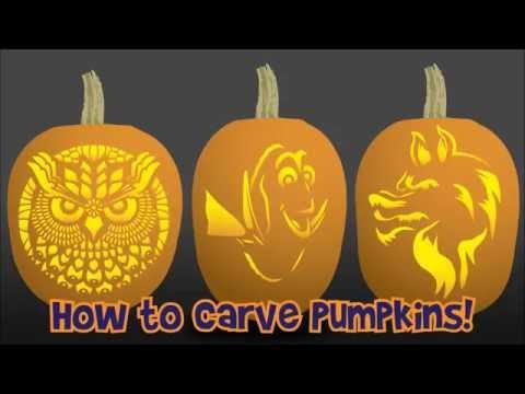 How to Carve a Pumpkin with a Pumpkin Stencil