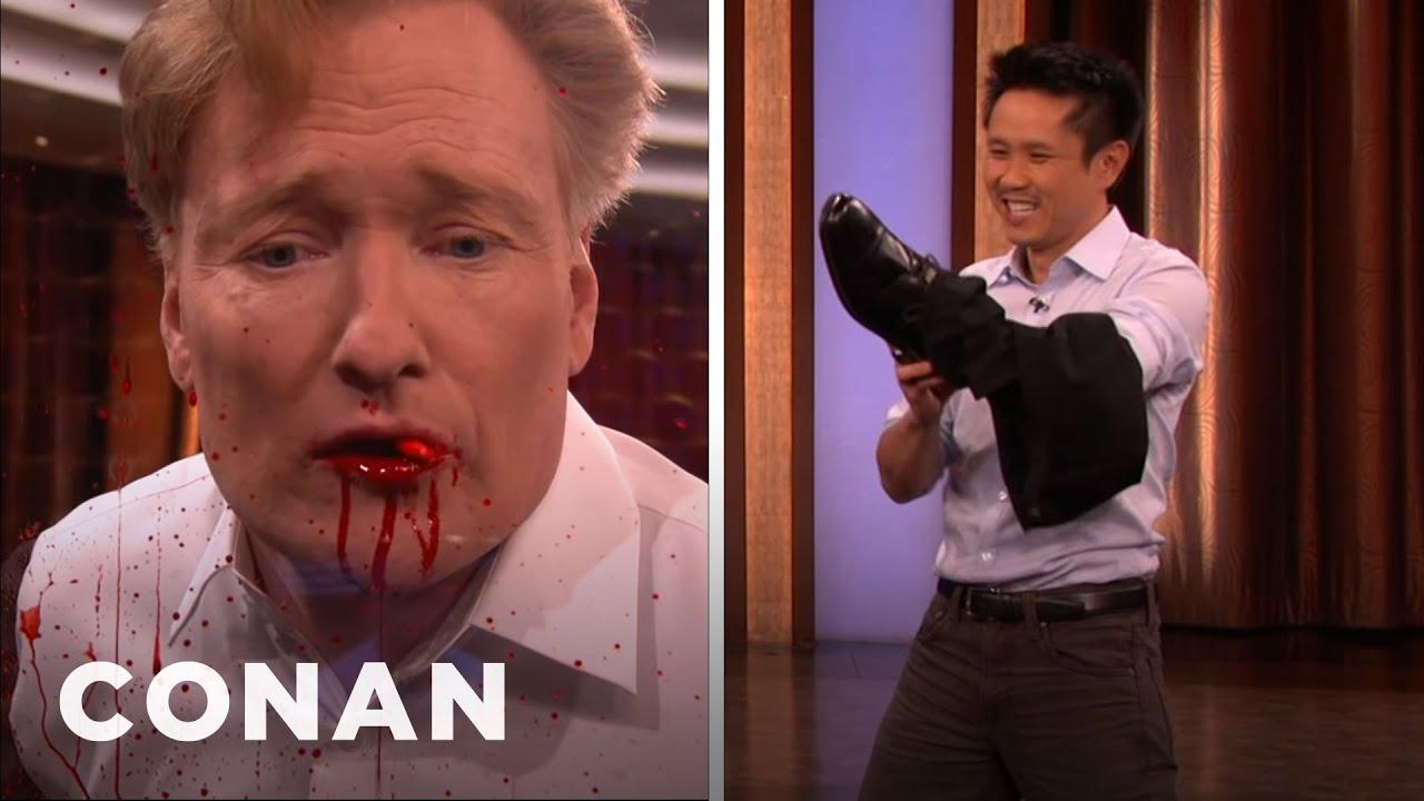 Steven Ho Kicks Conan's Teeth Out   CONAN on TBS