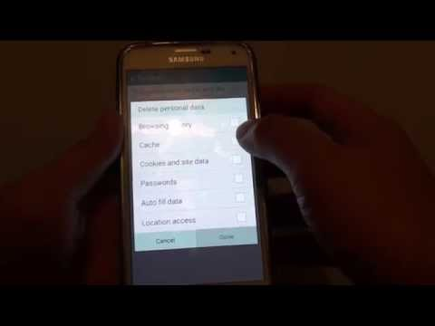 Samsung Galaxy S5: How to Remove Internet Browser Cache