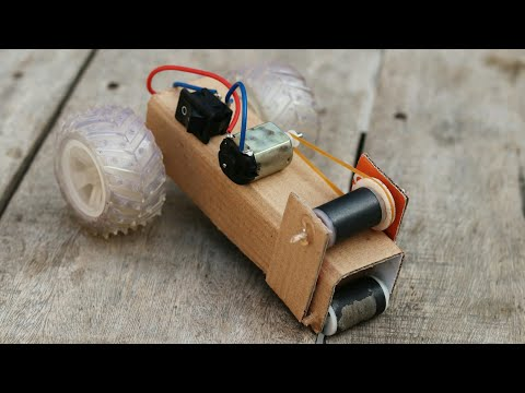 How To Make a Magnetic Wheel Car | Awesome Idea