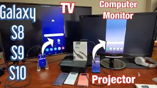 Galaxy S8/S9/S10: Connect to Any TV, Computer Monitor or Projector w/ HDMI 4k @ 60fps Cable
