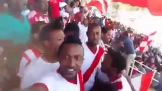 "Fasil Kenema football club fans, singing Teddy Afro's ""Atse Tewodros"" song"