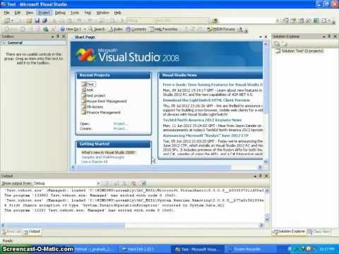 Visual Studio guide - Tutorial 1 - Connect Database to Visual Studio