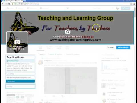 Add Twitter account bio and banner