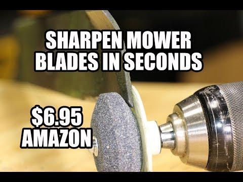 5 second Mower Blade Sharpener - Under $7 on Amazon